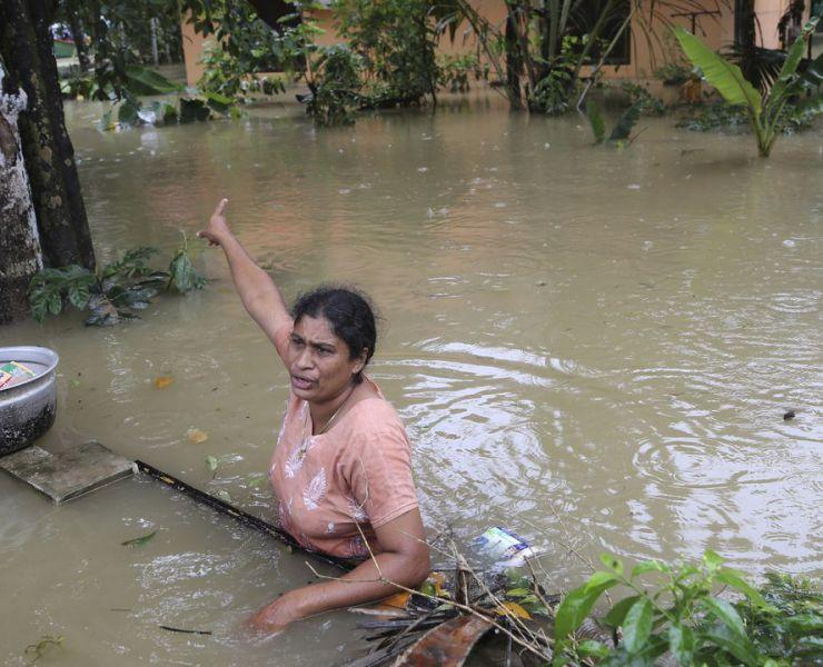 Noodhulp aan slachtoffers van de watersnood in Kerala